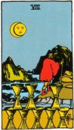 Card Three   Eight of Cups - Withdrawal