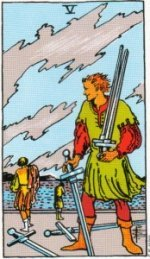 Card Four   Five of Swords – Pointless