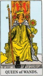 Card Five   Queen of Wands - Influential