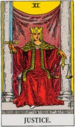 Card Five   XI - Justice - Balance