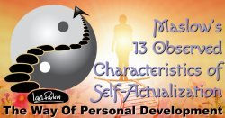 The 13 Characteristics of Self-Actualization