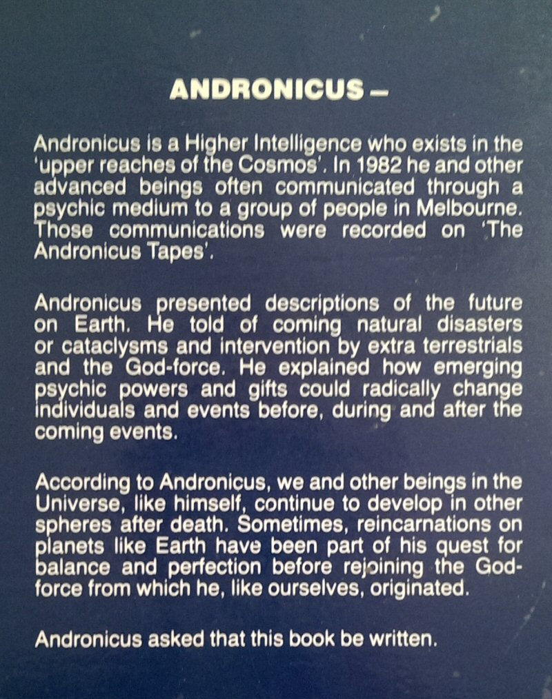 Andronicus Tapes Back Cover