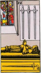 Card Five   Four of Swords - Reprieve
