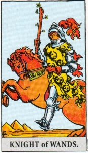 Card Two   Knight of Wands - Adventurous