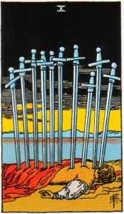 Card Five   Ten of Swords – Nadir