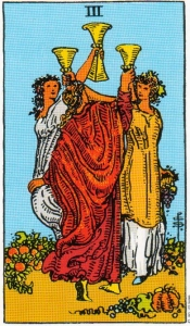 Three of Cups Tarot Card Meaning