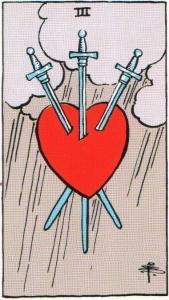 Card One Three of Swords - Sacrifice