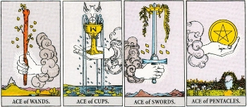 Minor Arcana Meanings - Aces