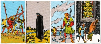 Minor Arcana Meanings - Fives