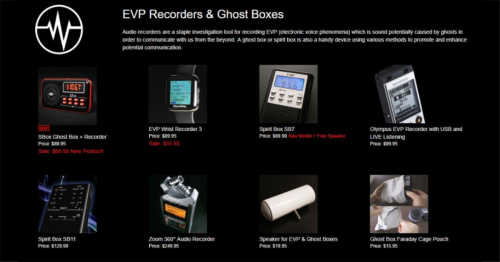 EVP Recorders & Ghost Boxes