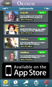 psychics in mobile iphone
