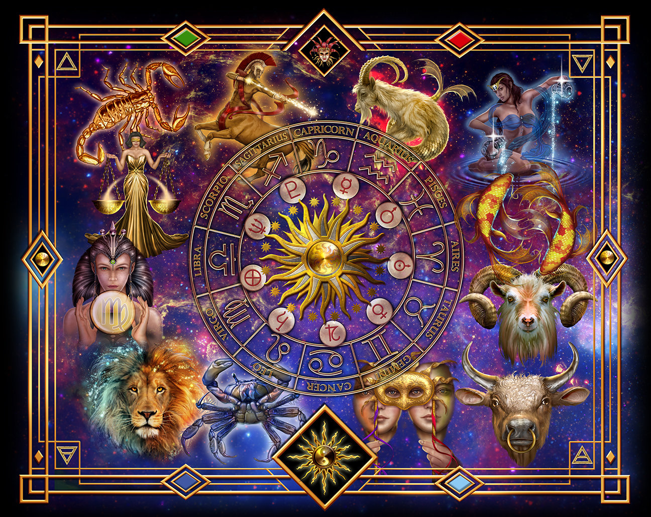 Tarot Horoscope Spread Cloth