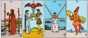Minor Arcana Meanings - Twos