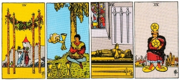 Minor Arcana Meanings - Fours