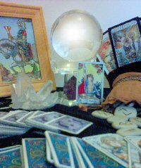 A psychic's tools