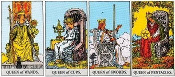 Minor Arcana Meanings - Queens